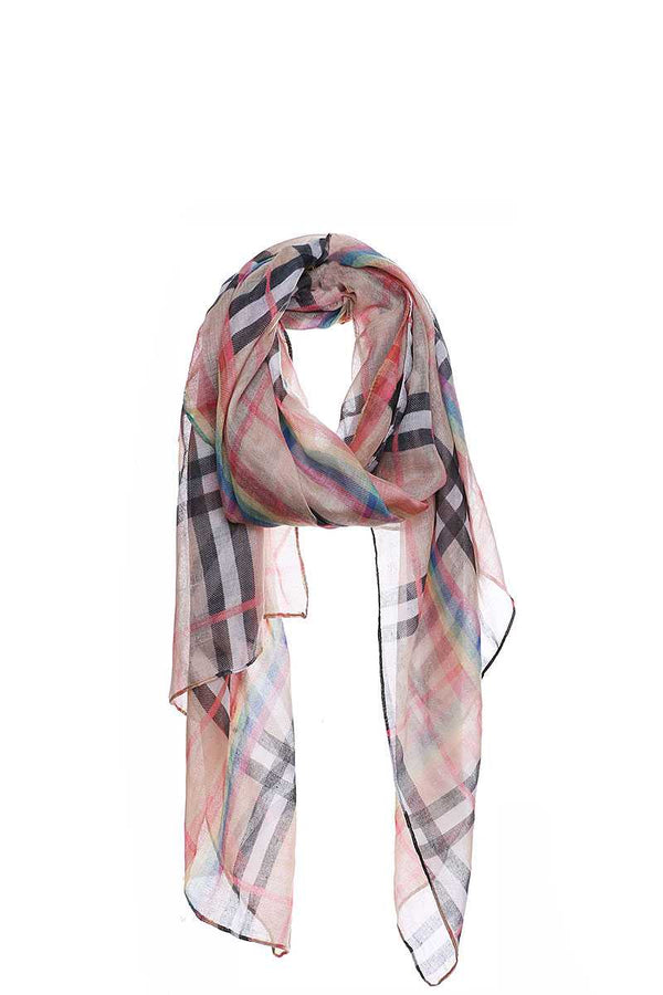 Fashion Rainbow Modern Check Scarf demochatbot