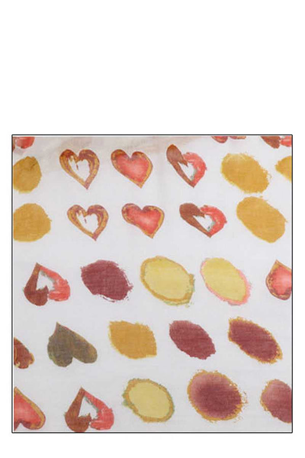 Fashion Soft Water Color Heart Print Scarf demochatbot