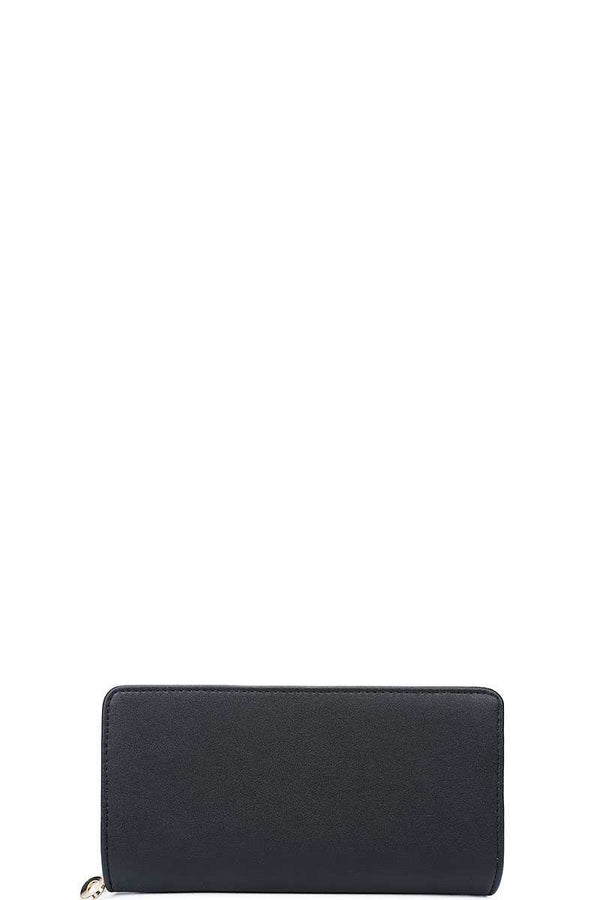 Fashion Solid Color Long Wallet demochatbot