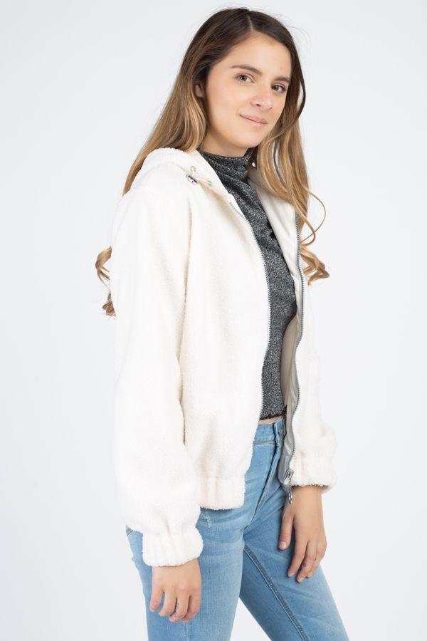 Faux Fur Drawstring Hooded Jacket demochatbot