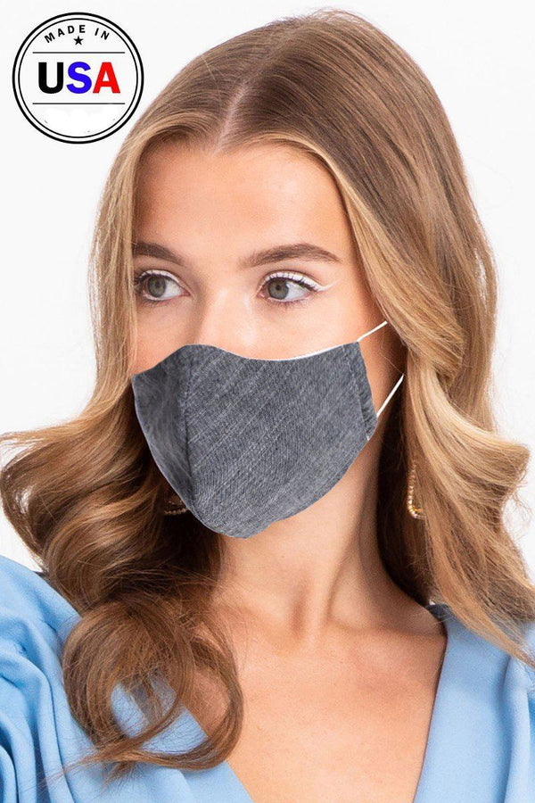 Made In Usa Unisex Fashionable Reusable Washable Cool Breathable Fabric, 3d Face Mask demochatbot