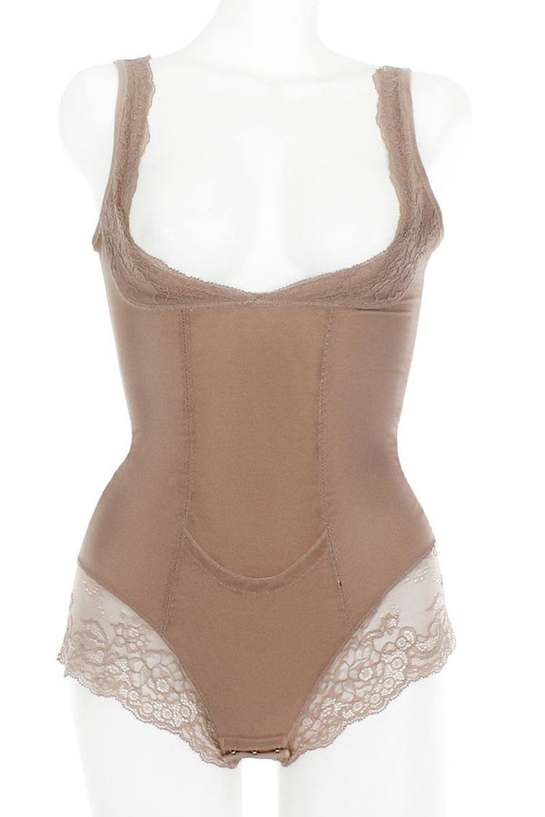 Mesh With Floral Lace Shapewear Bodysuit demochatbot Roebuck S
