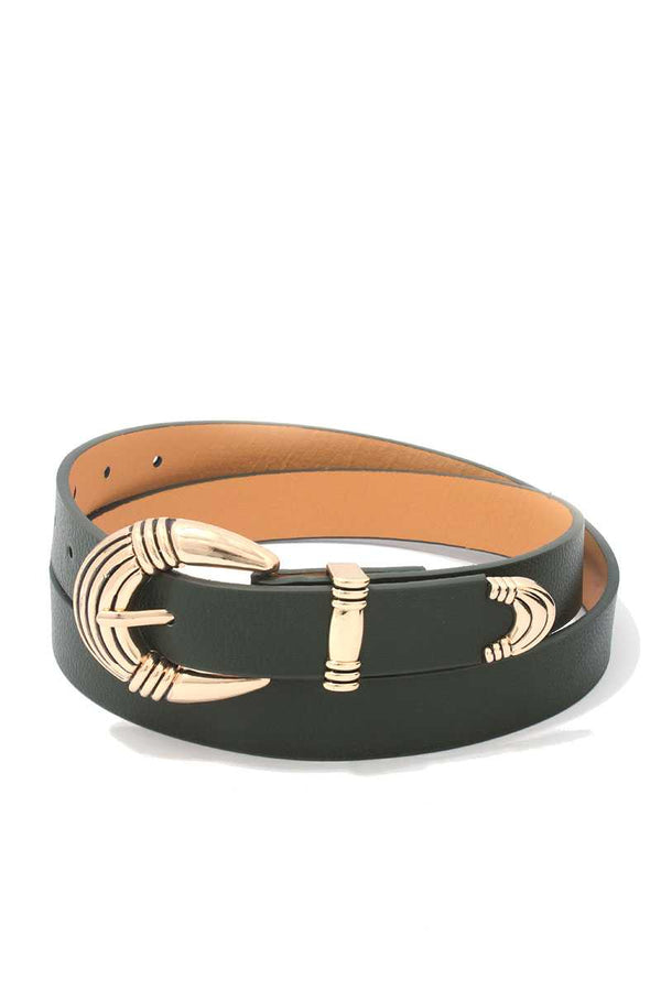 Metal Buckle Pu Leather Belt demochatbot