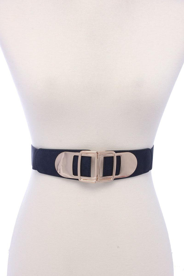 Metal Buckle Pu Leather Elastic Belt demochatbot