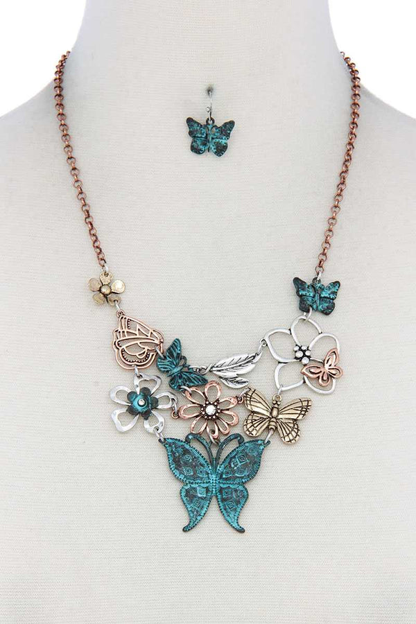 Metal Butterfly Necklace demochatbot