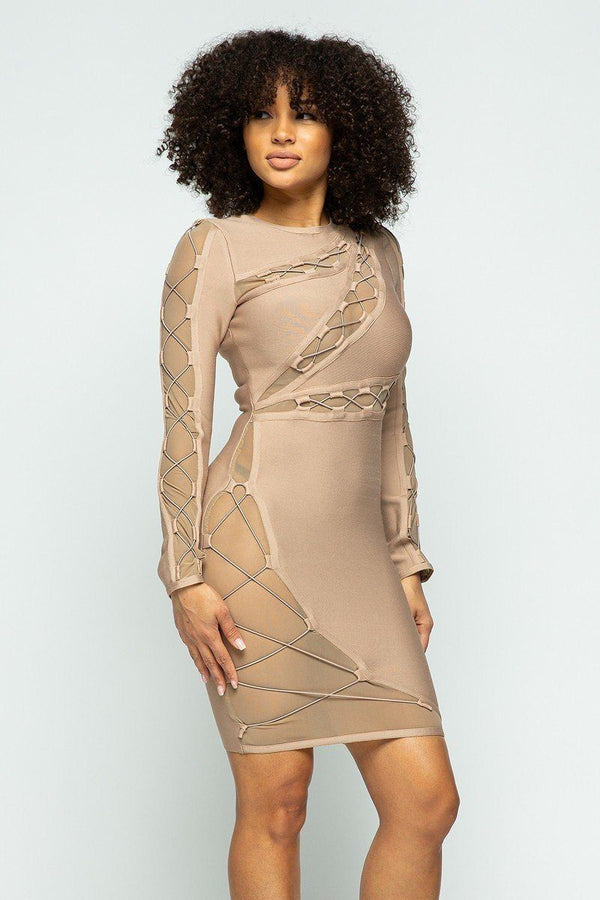 Mini Bandage Dress - Pinky Petals