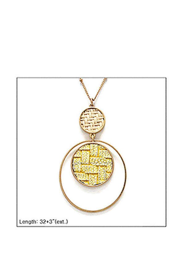 Modern Double Layer Pendant Necklace demochatbot