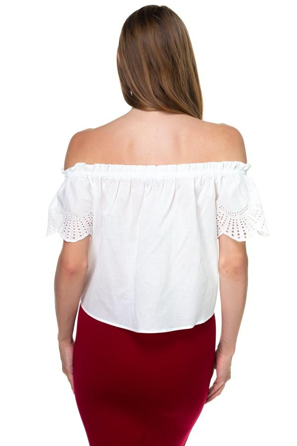 Off Shoulder Cutout Sleeve Top demochatbot