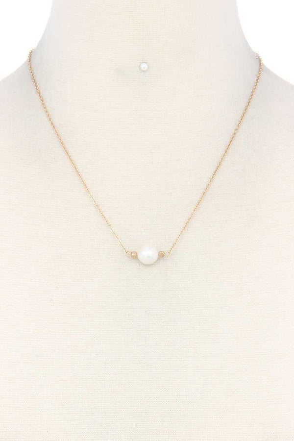Pearl Charm Necklace demochatbot