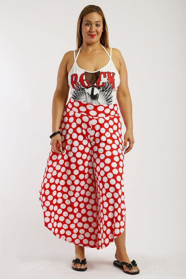 Polka Dot, Loose Harem Pants demochatbot