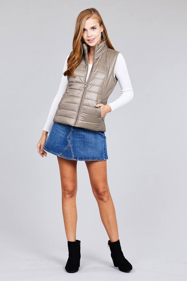 Quilted padding vest demochatbot