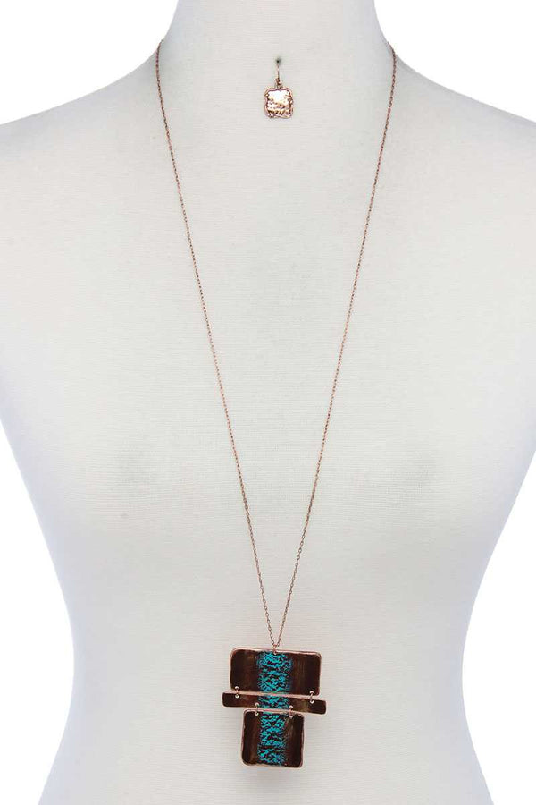 Rectangular Shape Pendant Necklace demochatbot