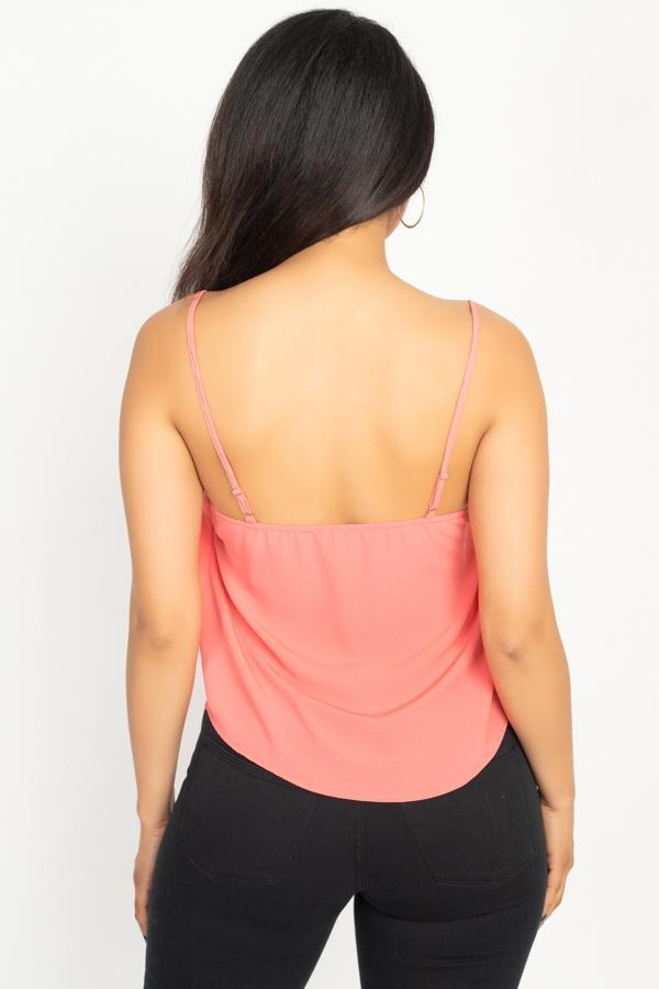 Scallop Opening Cami Top demochatbot