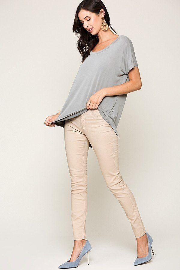 Scoop Neckline Cupro Solid Top demochatbot
