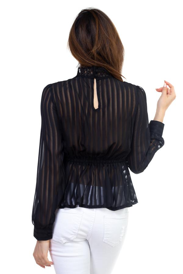 Shadow Stripe Embroidered Shirt demochatbot