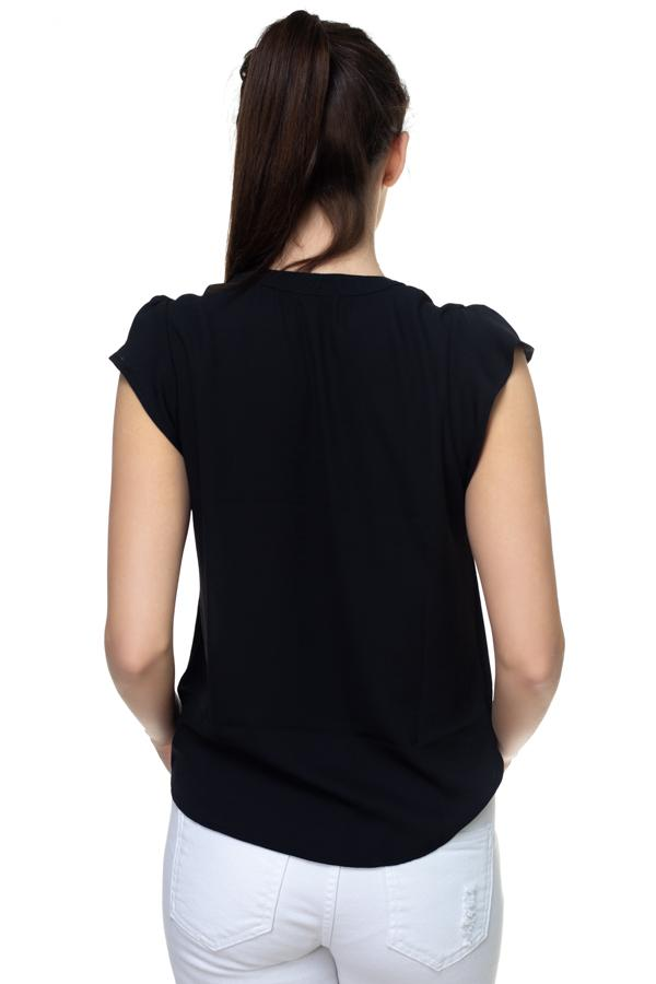 Split V Band Collar Ruffle Sleeve Top demochatbot