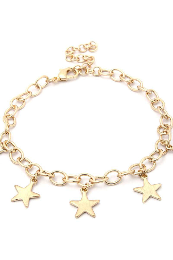 Star Charms Metal Bracelet demochatbot