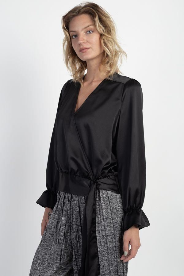 Surplice Wrap Front Top demochatbot
