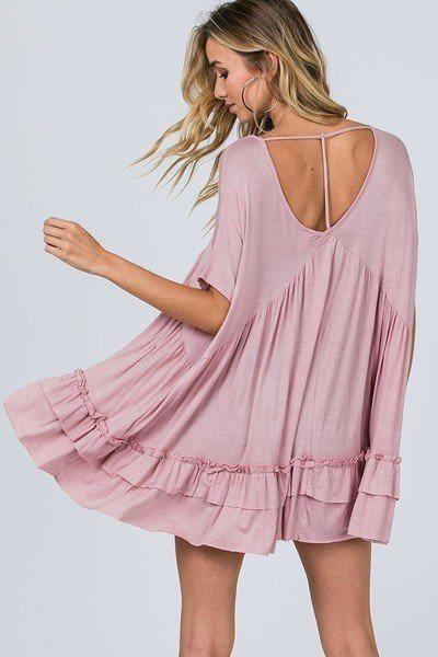 Tiered Ruffle Detail Relaxed Top demochatbot