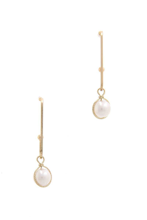 Wire Wrapped Pearl Drop Earring demochatbot