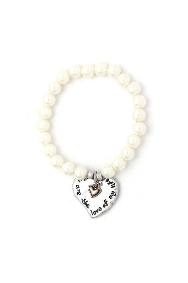 You Are The Love Of My Life Heart Beaded Bracelet demochatbot
