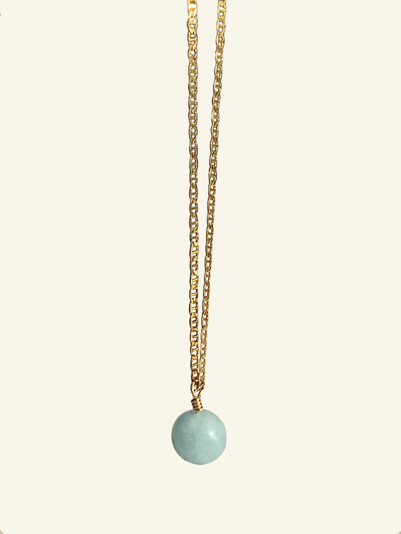 COLLIER ANGELE - AIGUE MARINE