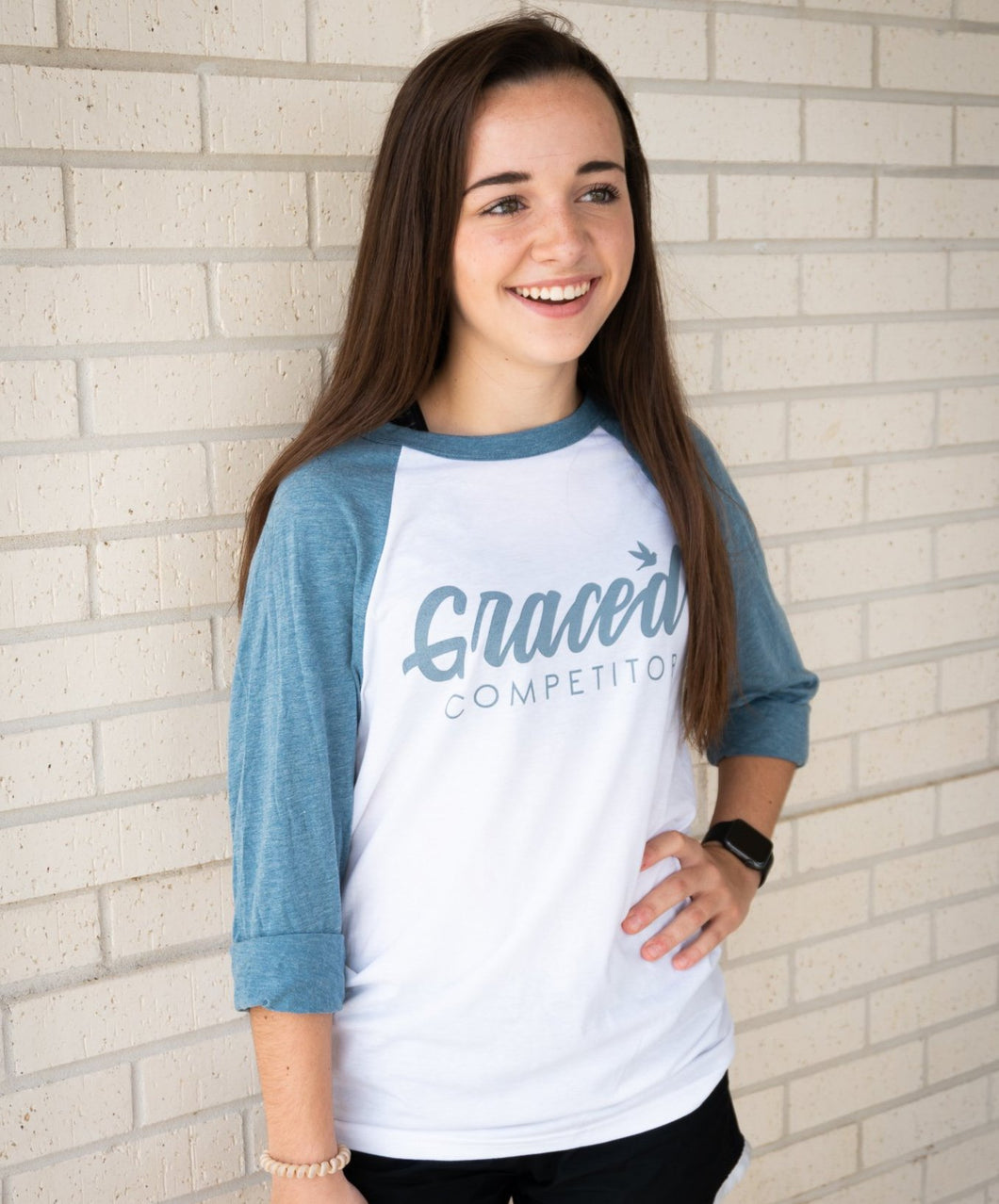 Classic Graced Competitor Baseball Tee