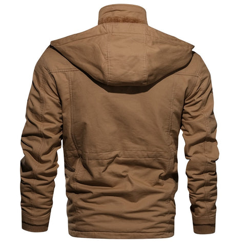 Bestwalk Pilot Men Fleece Jacket with Hood