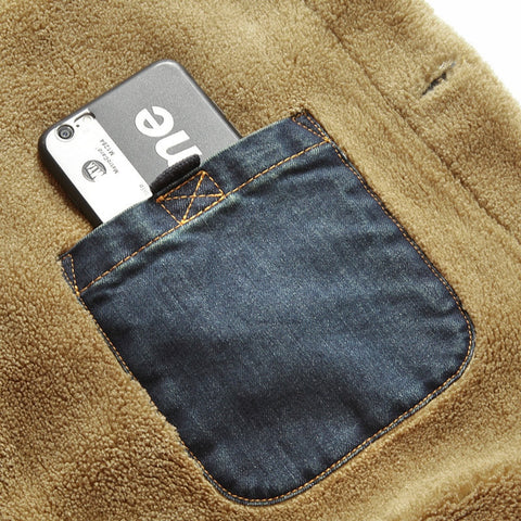 Greezzly Denim Jacket for men with cashmere interior