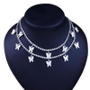 Bestwalk Butterfly Choker Necklace