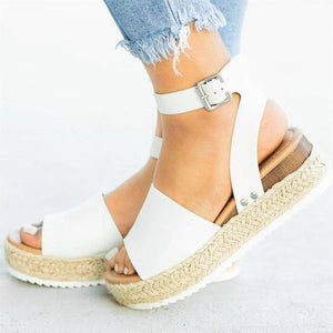 Caly™ Wedge Platform Flatforms Comfy Sandals Shoes for Women white