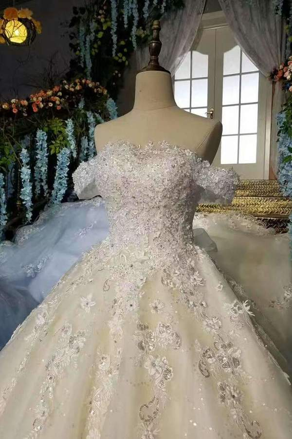 2020 New Arrival Beautiful Wedding Dresses Lace Up Off The P8ETPMGH