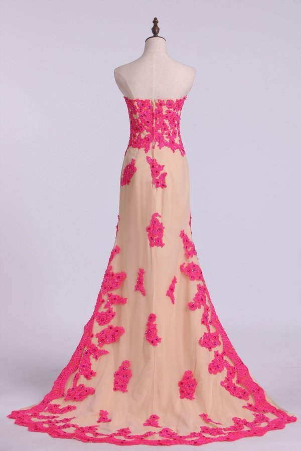2020 Asymmetrical Prom Dresses Sheath Sweetheart With P43D5D1T
