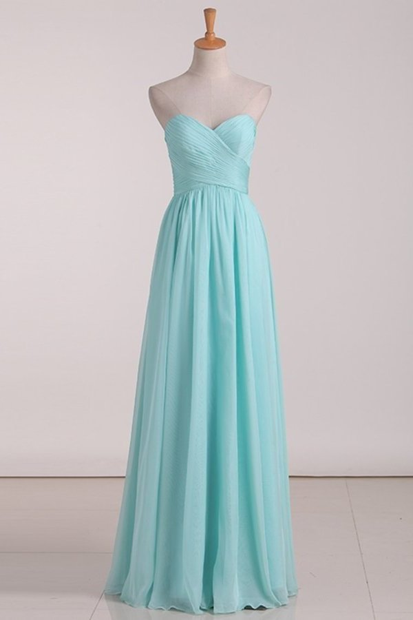 2020 A Line Sweetheart A Line Bridesmaid Dresses With Ruffles PZ2R98ZX