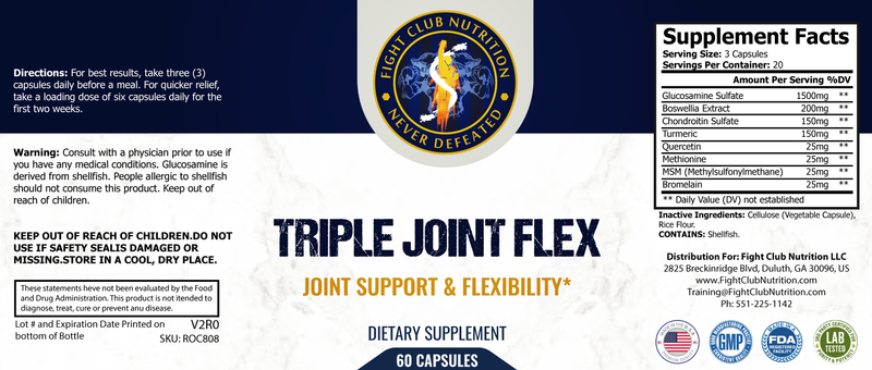 Glucosamine and Chondroitin Sulfate, Joint Support
