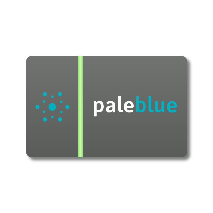 Pale Blue Gift Card