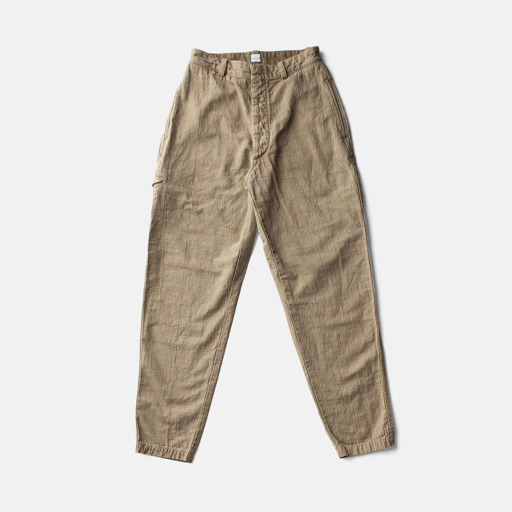 """ITTO UNSAI"" COTTLE PANTS-COFFEE"