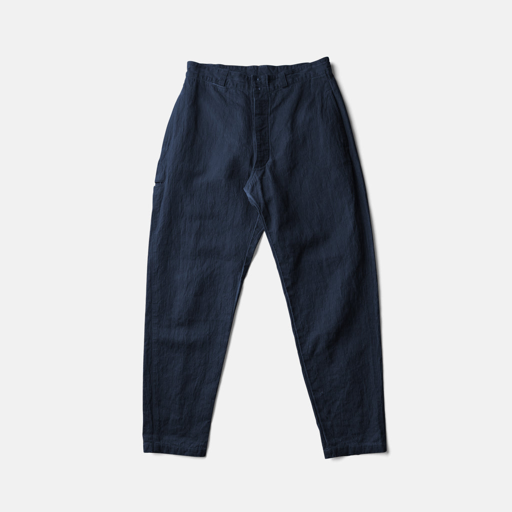 """ITTO UNSAI"" COTTLE PANTS-AUTENTIC INDIGO"