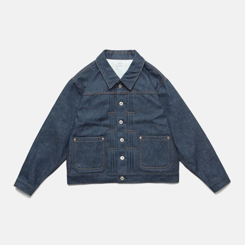 C.T.L STANDARD DENIM JACKET-BINGO FUSHIORI - SOLID RIGID (NON WASH)