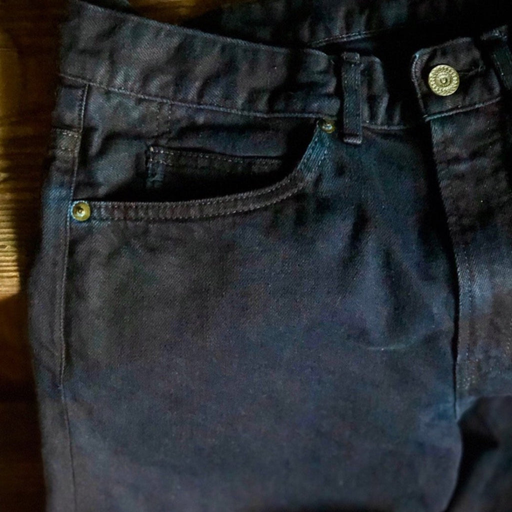 C.T.L STRAIGHT DENIM PANTS-BENGARA(INDIAN RED) / AUTHENTIC INDIGO