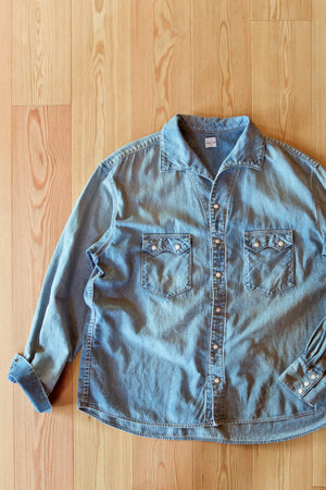C.T.L COMFORT LINEN DENIM SHIRT - LIGHT INDIGO