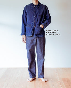 C.T.L STANDARD DENIM PANTS-BIZEN ICHIGO - WASHED INDIGO