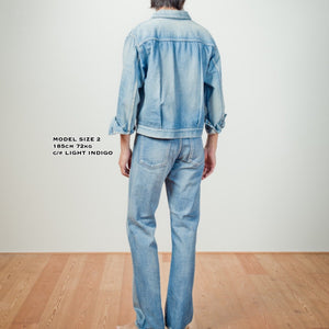 C.T.L STANDARD DENIM JACKET-BINGO FUSHIORI - LIGHT INDIGO