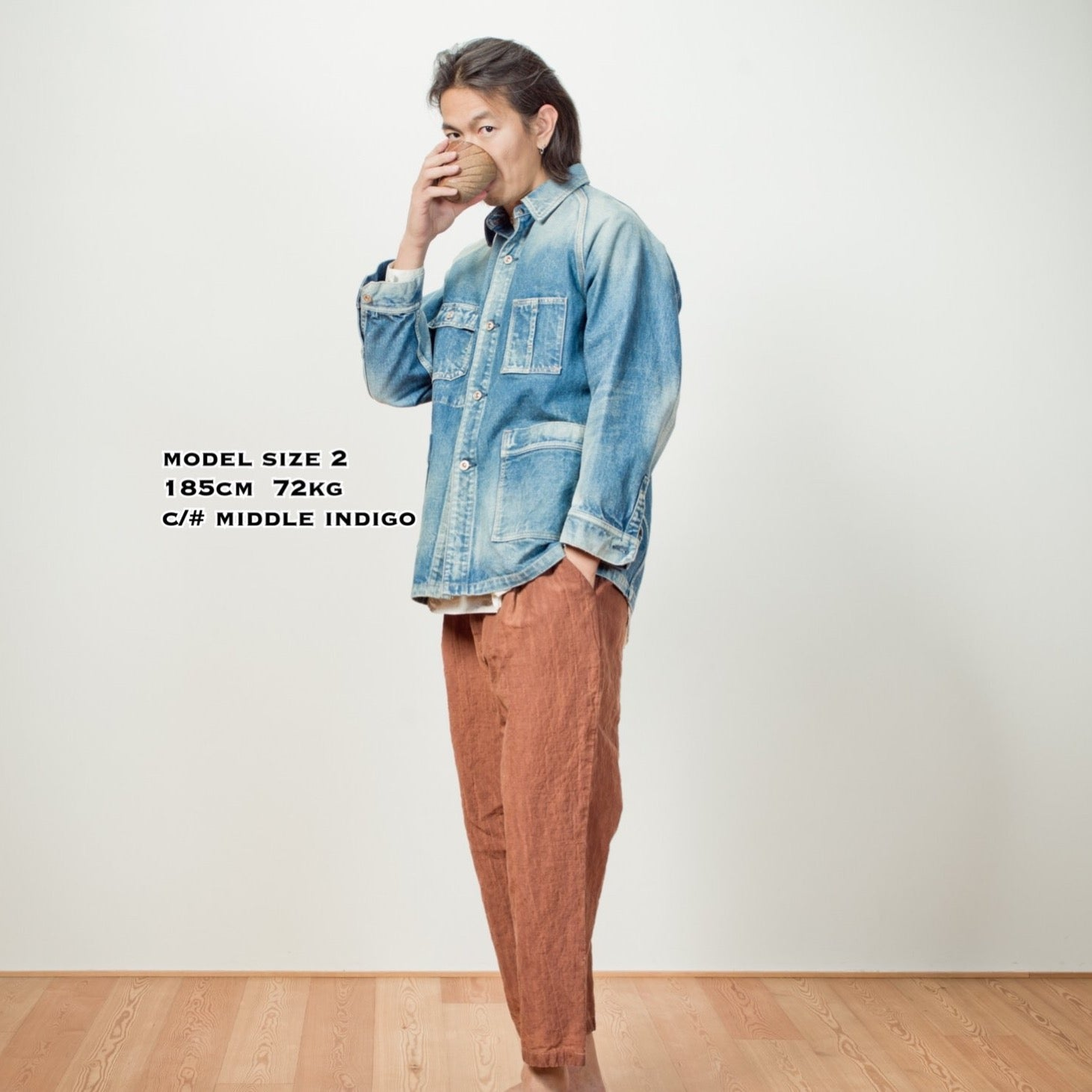 C.T.L TRAVELING JACKET - MIDDLE INDIGO