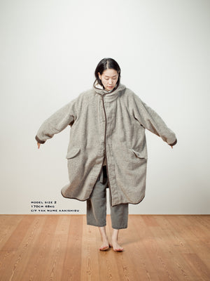 EGG COAT - CASHMERE AUTHENTIC INDIGO