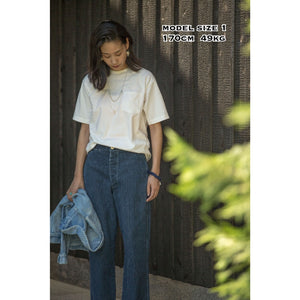 MERRY GO ROUND T SHIRTーAUTHENTIC INDIGO