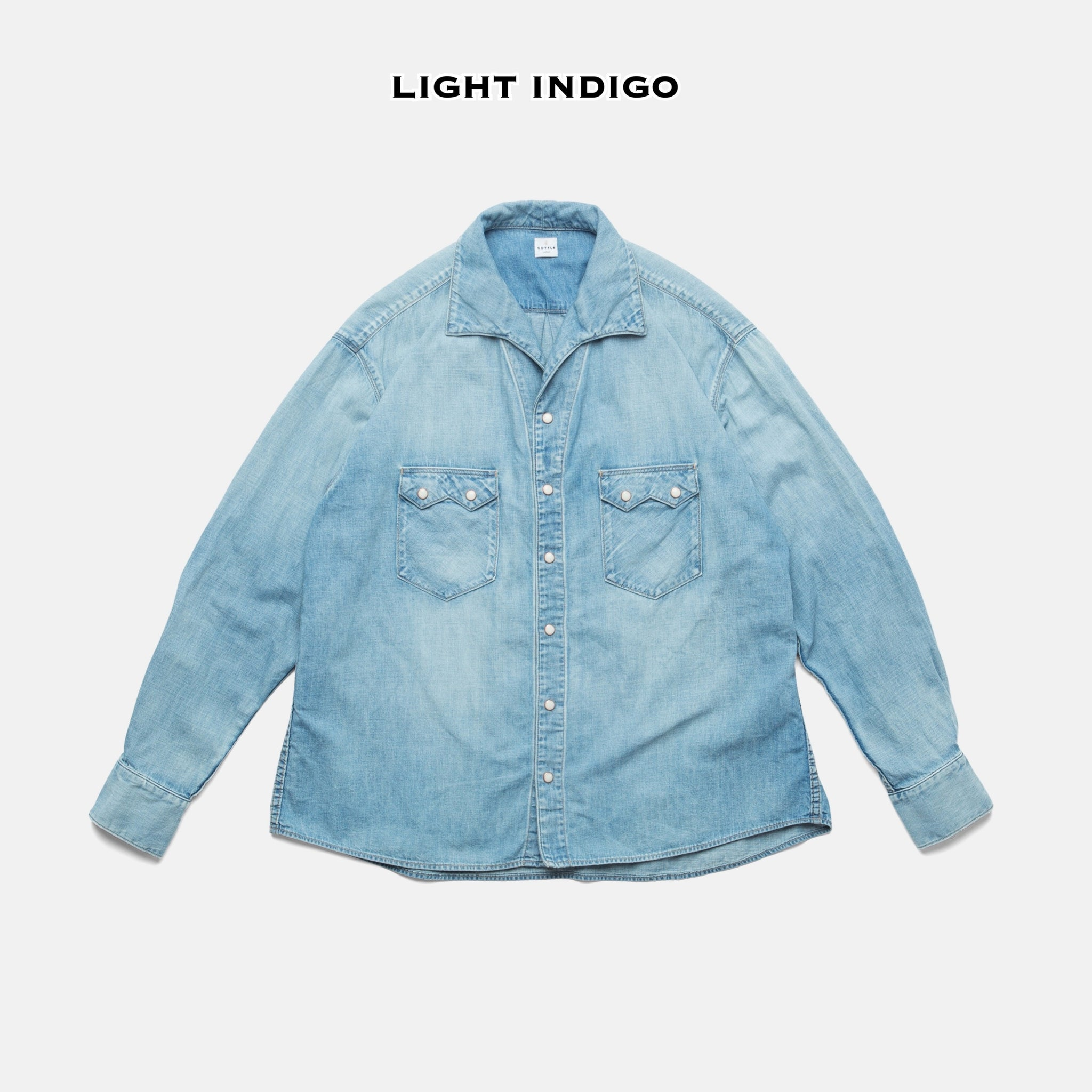 C.T.L COMFORT LINEN DENIM SHIRT - WASHED INDIGO
