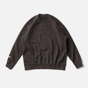 LIFE BOTANICAL DYE SWEAT SHIRTーKAKISHIBU BLACK