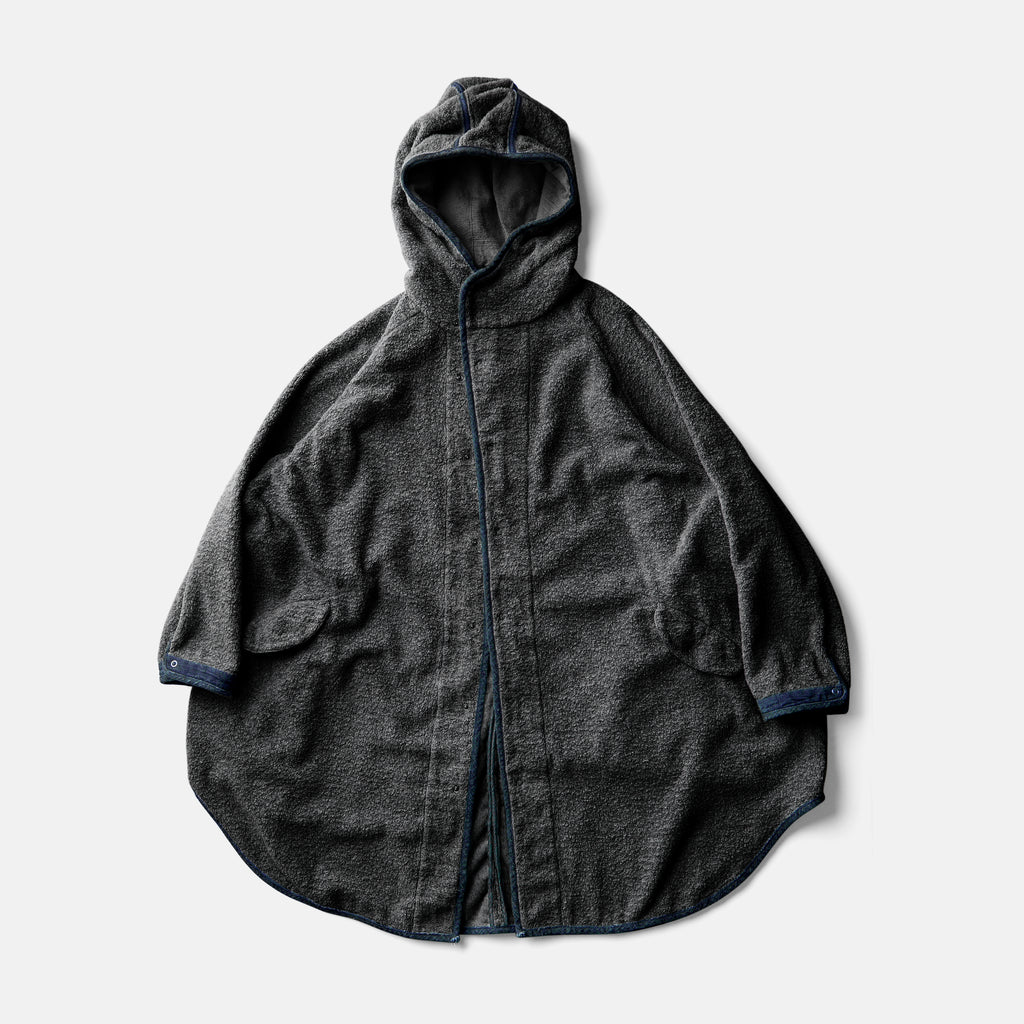 EGG COAT - YAK SUMI INK × AUTHENTIC INDIGO
