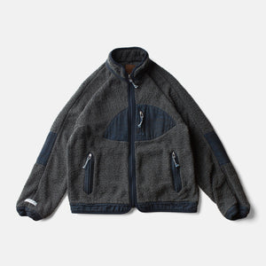 SUNSET PILE JACKET - YAK SUMI INDIGO LAOS